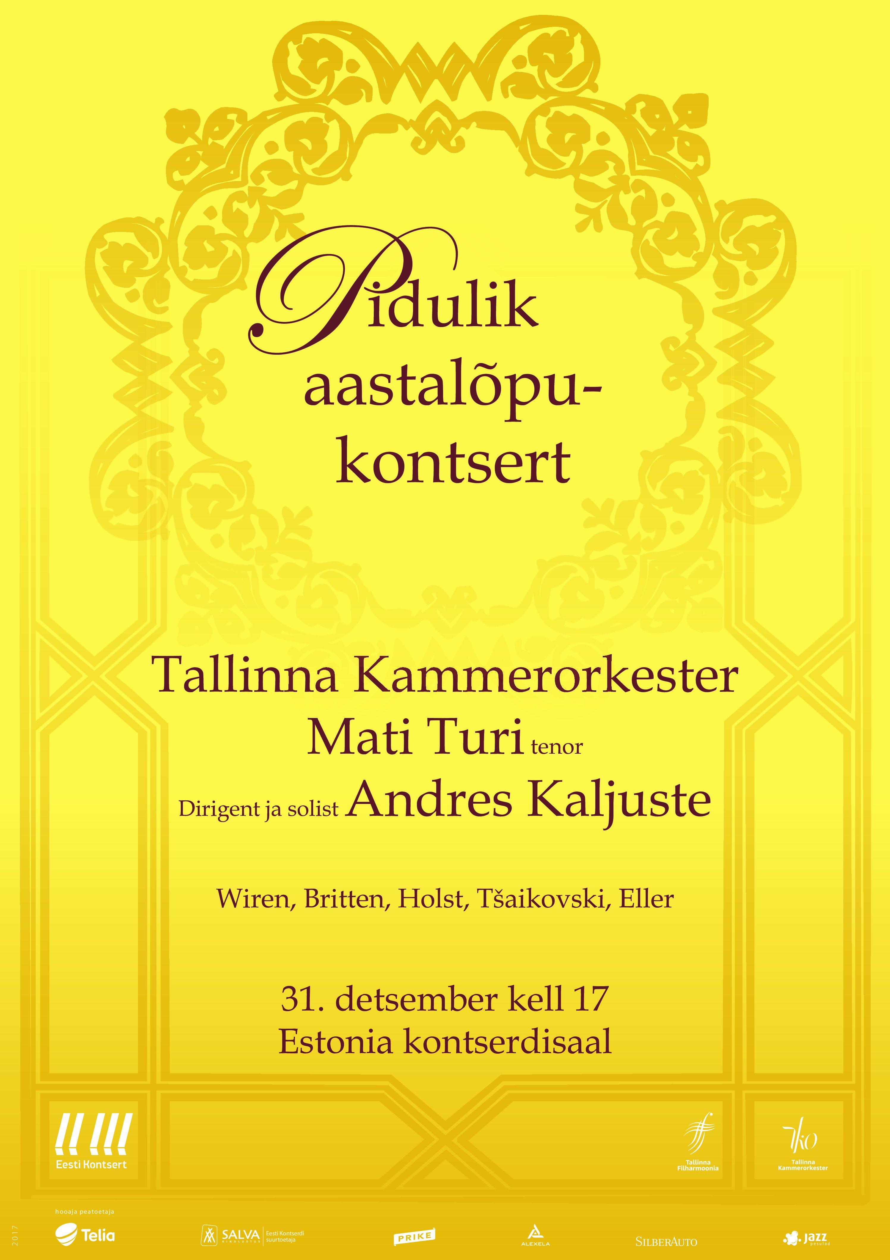 Eesti Kontserdi ja Hennessy aastalõpukontsert Tartus